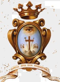 """Redemptorist Logo – """"Copiosa Apud Eum Redemptio"""" (With Him is Plentiful Redemption) Psalms 130:30"""
