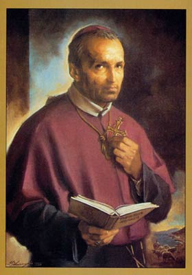 Saint Alphonsus Maria de Liguori, founder of the Congregation of the Most Holy Redeemer.